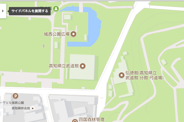 Google Mapでサイドパネルを展開