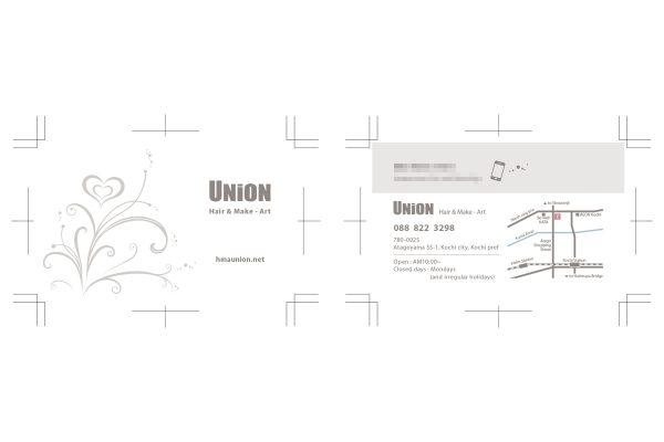 ヘアサロン ユニオン ショップカード